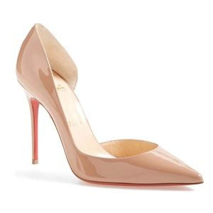 New Christian Louboutin Iriza Nude Patent 100mm 41